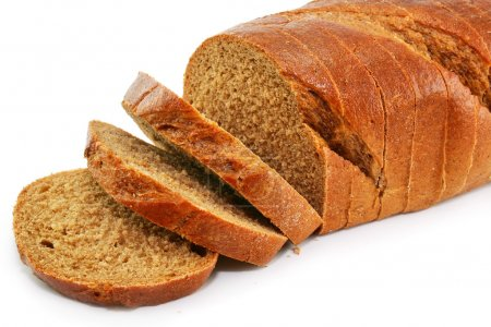 Closeup of whole wheat bread isolated