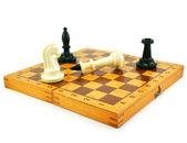 šachovnice a chessmens