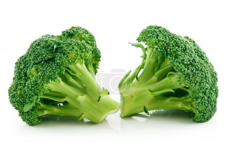 Photo for Ripe Broccoli Cabbage Isolated on White Background - Royalty Free Image