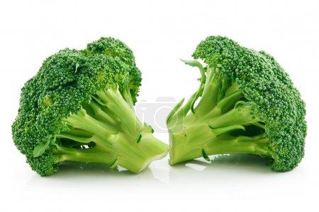 Ripe Broccoli Cabbage Isolated on White Background