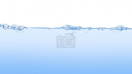 Photo for Clean pure ligh water with a lot of bubbles - Royalty Free Image