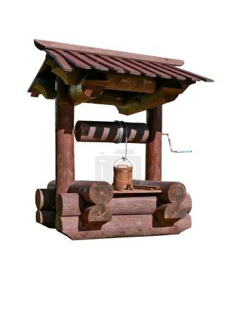 Photo pour Puits d'eau rural. Isolé . - image libre de droit