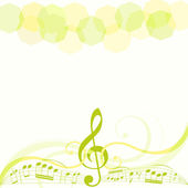 Musical theme background