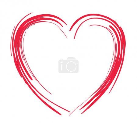 Illustration pour Coeur stylisé comme symbole d'amour - image libre de droit