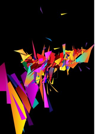Illustration for Background from colour triangles - Royalty Free Image
