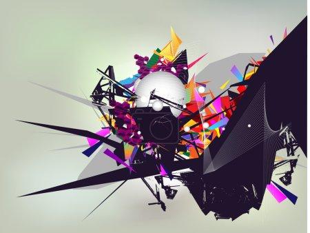 Illustration pour Composition abstraite des couleurs - image libre de droit