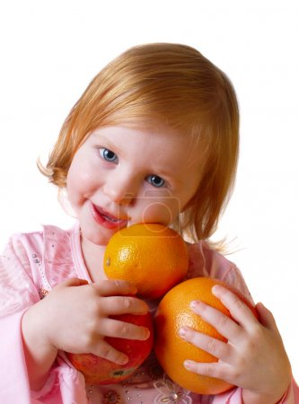 Child with orange