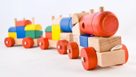 Photo for Wooden Toy Train - Royalty Free Image