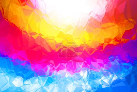 Photo for Bright multicolor abstract background with a pattern - Royalty Free Image