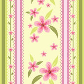 Floral seamless wallpaper with spotted background