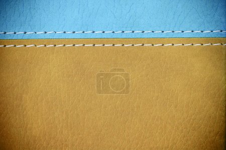 Photo for Close up of brown leather cover book - Royalty Free Image