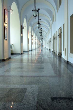 Photo for Antique corridor in classic style using as art gallery - Royalty Free Image