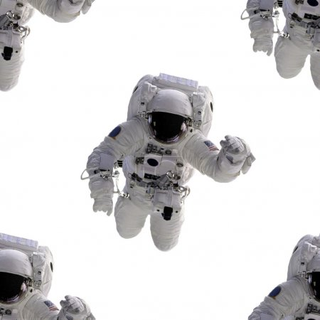 Seamless Background Astronaut