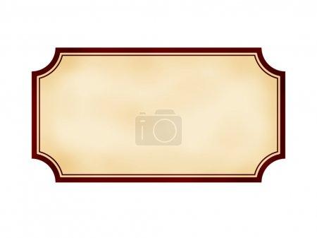 Photo pour Ancienne étiquette pour un carnet sur fond blanc - image libre de droit