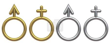 Photo pour Symboles masculin et féminin - image libre de droit