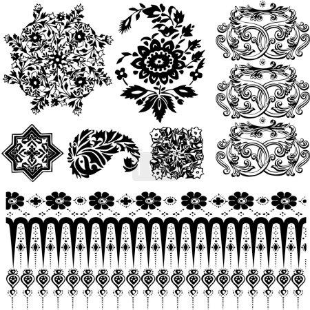 Oriental patterns silhouettes