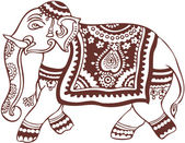 Indian domestic elephant design