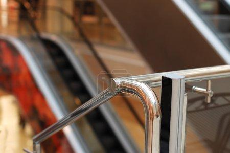 The escalator in shopping centre