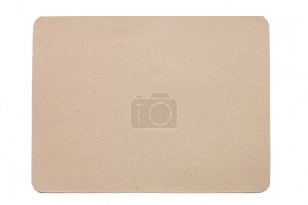 Sheet of paper isolated on white
