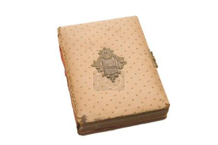 Photo pour L'ancien livre isolé sur fond blanc - image libre de droit