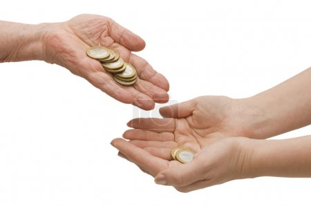 Coins from old hands in the young