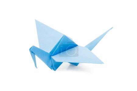 Foto de Origami Grúa aislada sobre fondo blanco - Imagen libre de derechos
