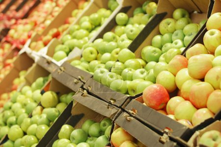 Photo for Fruit section in supermarket - Royalty Free Image
