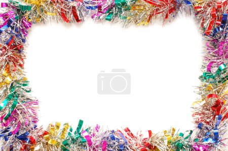 Photo for Christmas frame a colour tinsel - Royalty Free Image