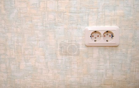 Electric outlet in a wall