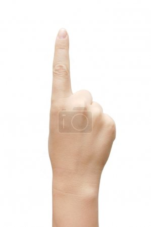 Photo for Women hand show the number one - Royalty Free Image