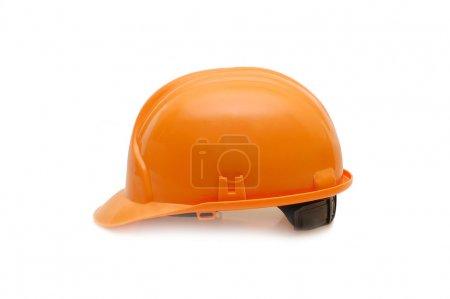 Photo for Orange helmet isolated on white background - Royalty Free Image