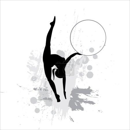 Silhouette of the sportswoman