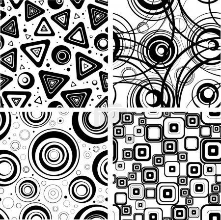 Illustration for Seamless elegance background from circles. - Royalty Free Image
