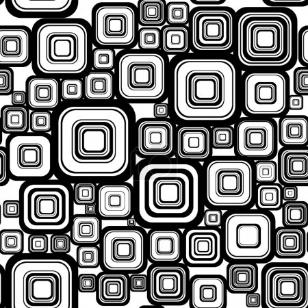 Illustration for Seamless retro background from squares. - Royalty Free Image