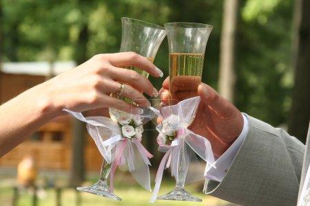 Photo pour Anneaux de mariage - image libre de droit