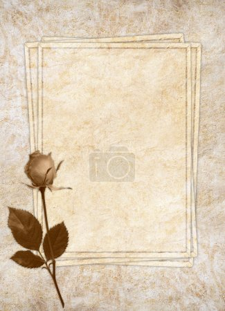Vintage card for the holiday with flower