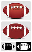 Vector image (color and symbol) of a American football