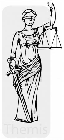Illustration pour Image vectorielle en niveaux de gris d'une déesse grecque antique Thèmes . - image libre de droit