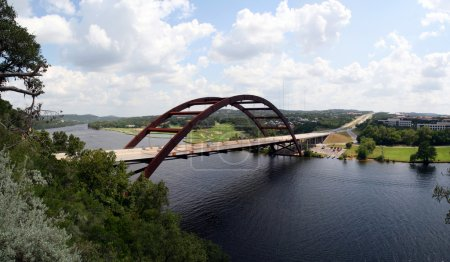 Photo for The Austin 360 bridge from an artistic view. - Royalty Free Image