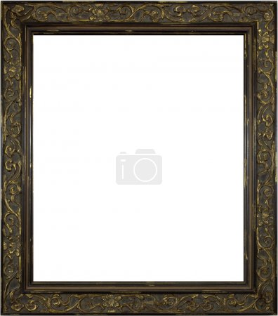 Wooden Picture Frame on White