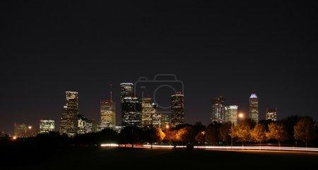 Downtown Houston Night Pano