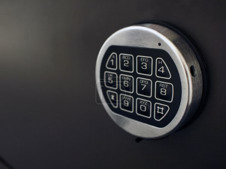 Photo for The number pad of a digital number lock of a safety box - Royalty Free Image
