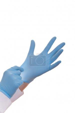 Hands of a medic