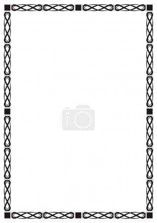 Illustration for Abstract frame, decor, vector illustration - Royalty Free Image