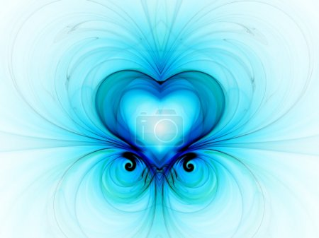 Photo for Elegance fractal with heart - Royalty Free Image