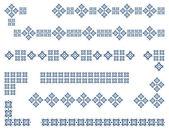 Borders set for 6 frames Vector editable illustration