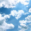 Heart in a blue unflawed sky in the form of clouds...