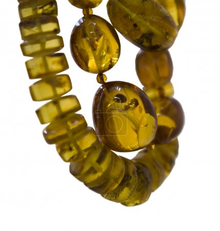 Beads from amber