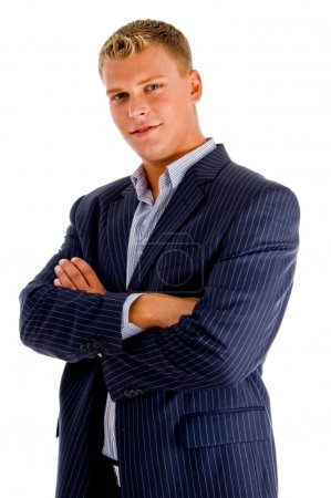 Businessman posing with crossed arms
