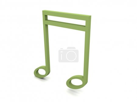Three dimensional clef in green